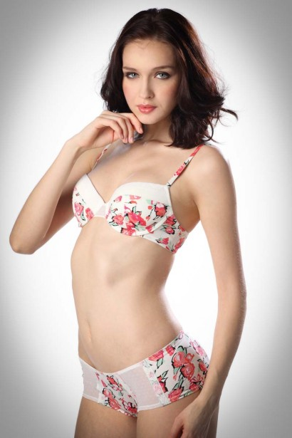 Bw!tch  Floral Hipster Brief